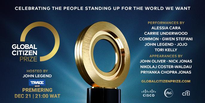 John Legend Hosts Global Citizen Prize 2020 - ONLY ON TRACE NAIJA