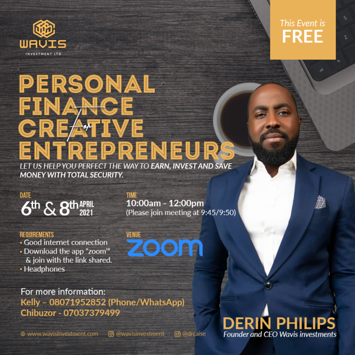 Derin Phillips Empowers Young Africans In Financial Freedom Masterclass For Creative Entrepreneurs