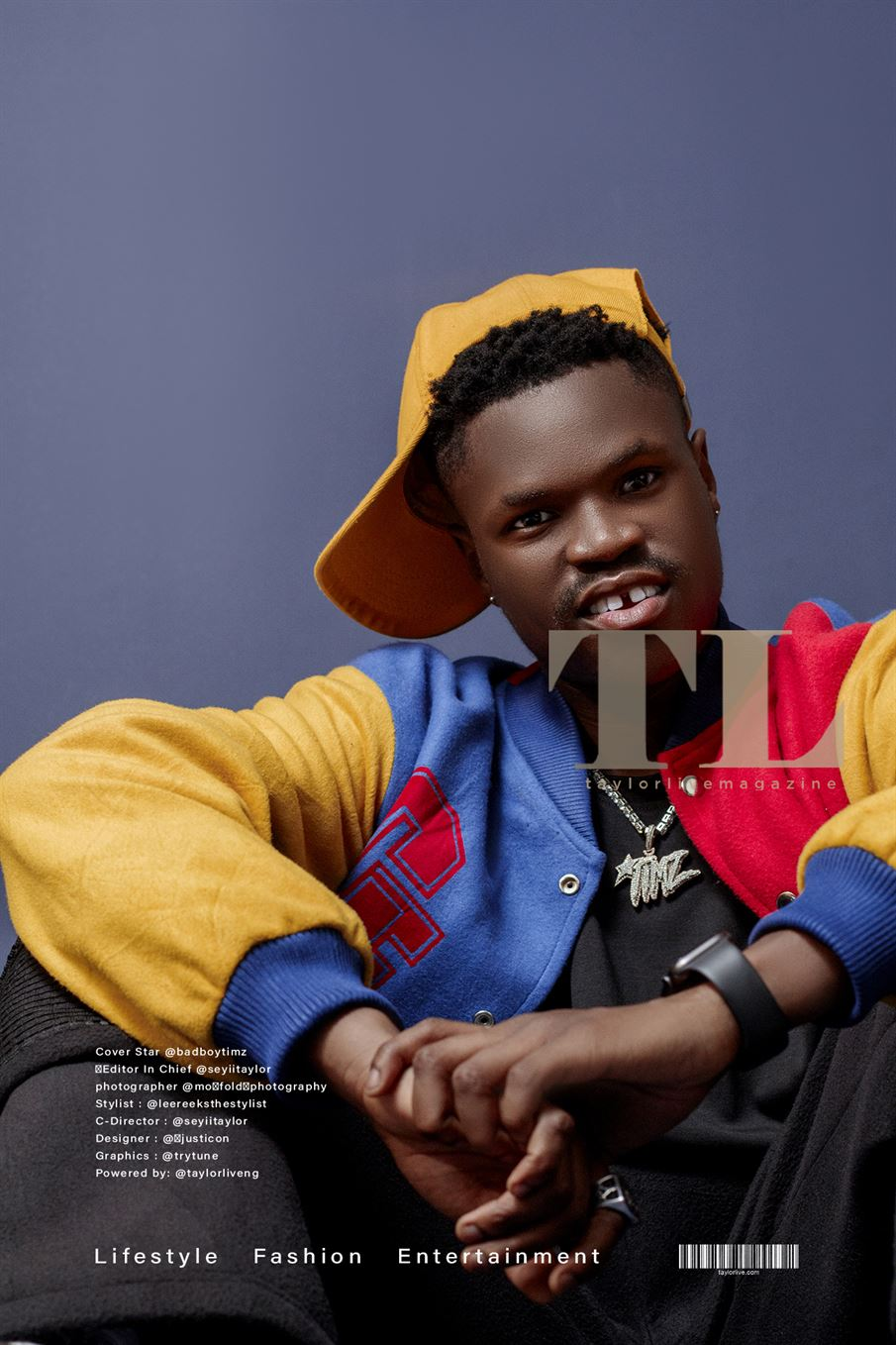 Bad Boy Timz Covers Taylorlive Magazine's Latest Issue