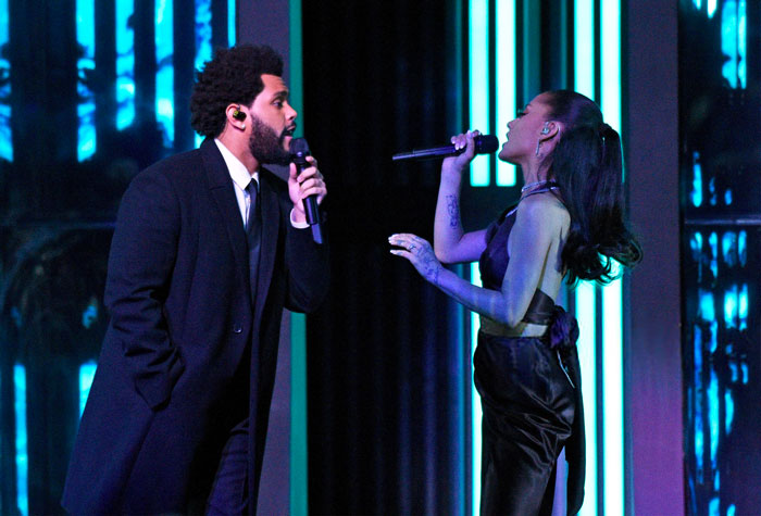 Watch The Weeknd and Ariana Grande's Performance At iHeartRadio Music Awards