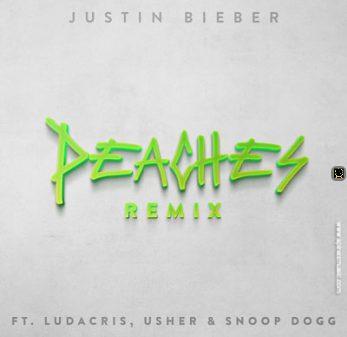 Justin Bieber Feat. Ludacris, Usher, & Snoop Dogg for 'Peaches (Remix)'