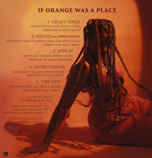 Tems Releases New EP 'If Orange was a Place'